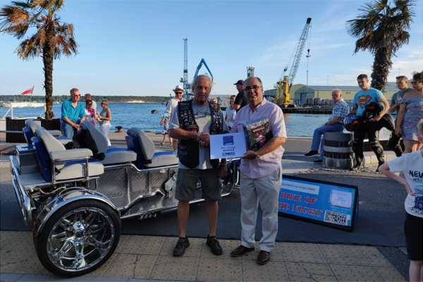 Bike of the Night Winner on Poole Quay 24th July