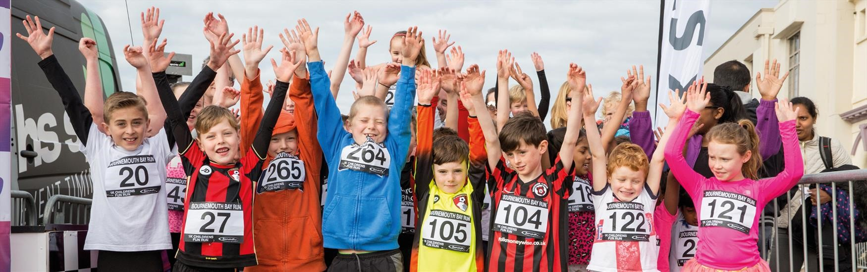 Kids excited to race in Bournemouths Bay Run