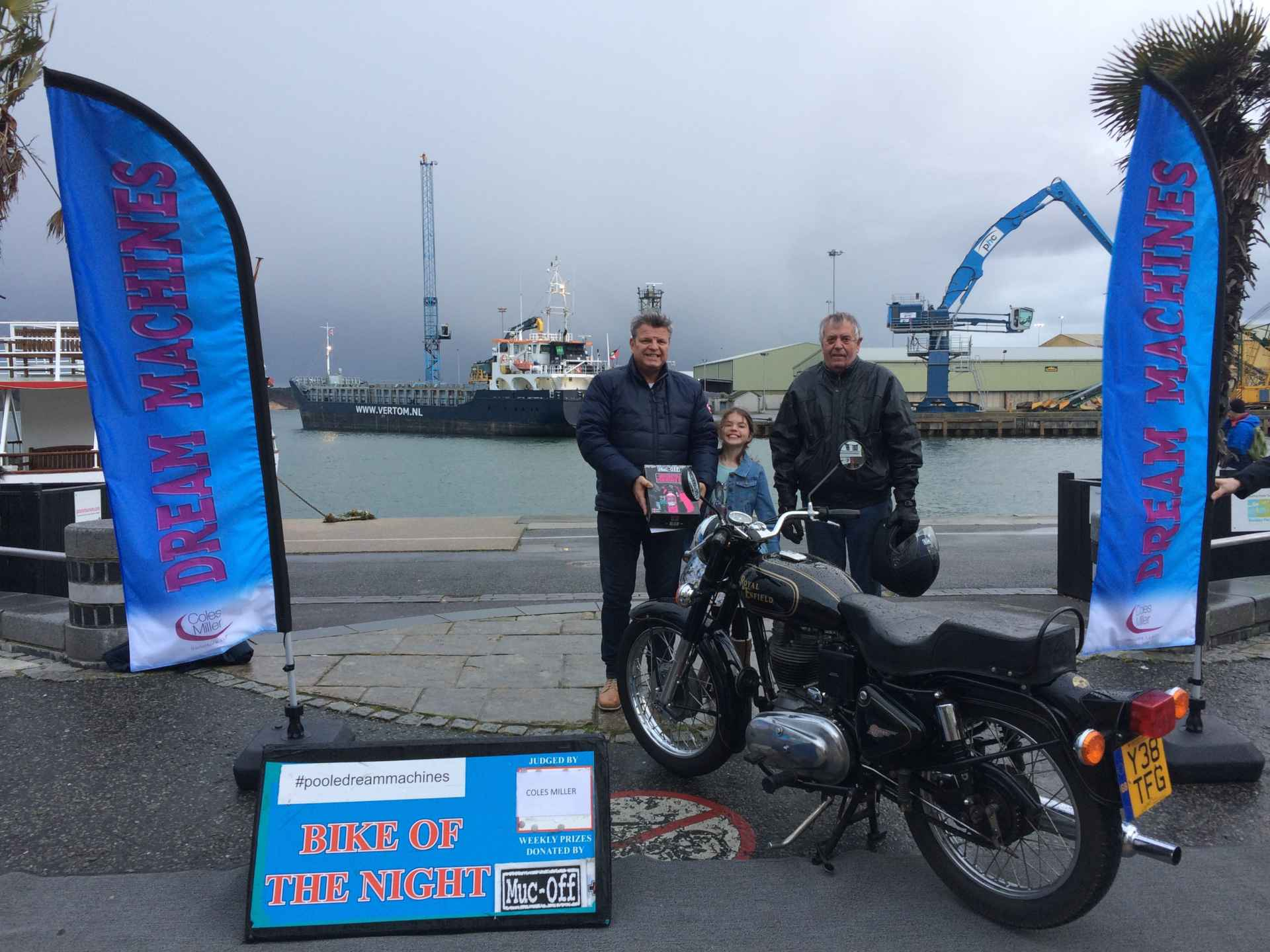 April 3rd dream machines winner on Poole Quay