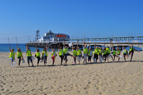 Leave Only Footprints litter pickers at Bournemouth Pier