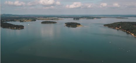 Poole Harbour view with sea and islands