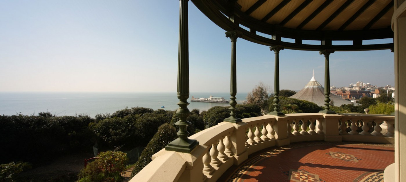 Beautiful views of Bournemouth from the Russell-Cotes Museum