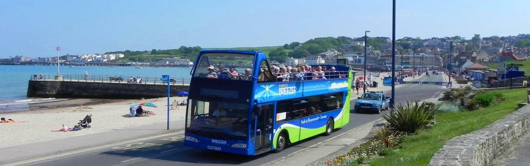 Take the open top to Swanage