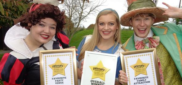 Adventure Wonderland's characters celebrate their Primary Times Award 2017