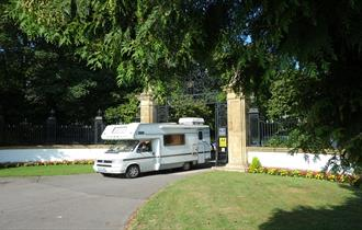 South Lytchett Manor Caravan & Camping Park Entrance Motorhome