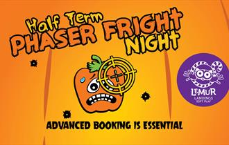 Halloween pumpkin and Phaser Fright Night wording