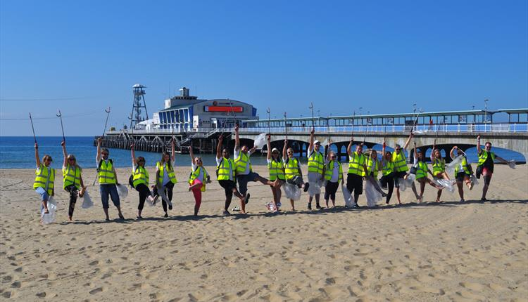 Leave only Footprints Re-Launch Bournemouth Beach LOF
