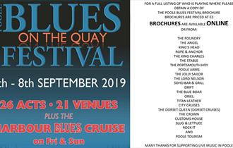 Poole Blues on the Quay Festival Banner.