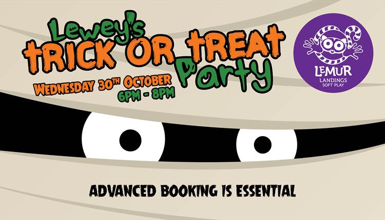 Trick or treat party with spooky eyes
