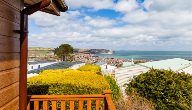 Views of the Jurassic Coast from Swanage Bay View Holiday Home Park