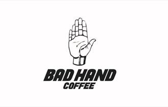 bad hand coffee hand logo