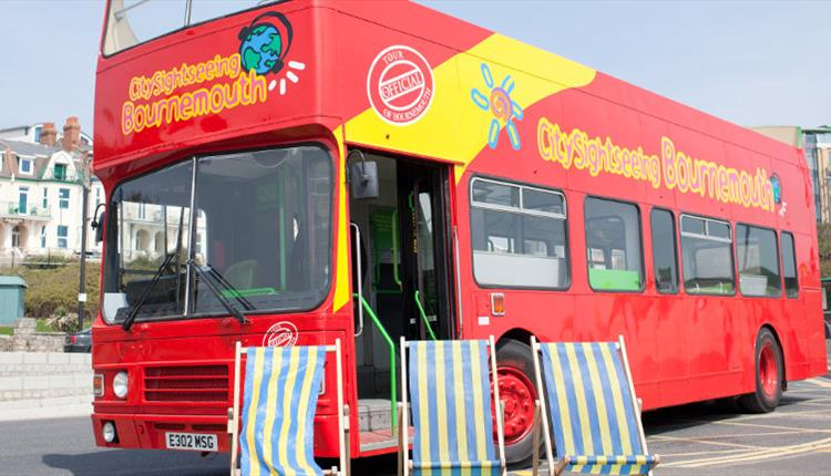 City Sightseeing Bus in Bournemouth